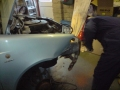 Fiat punto active accident repair using hammer