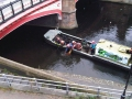 removing traffic cones from river soar, leicester