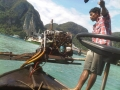 Long boat driver, leaving Phi Phi, Thailand
