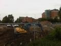 Excavator at work, duns lane, leicester