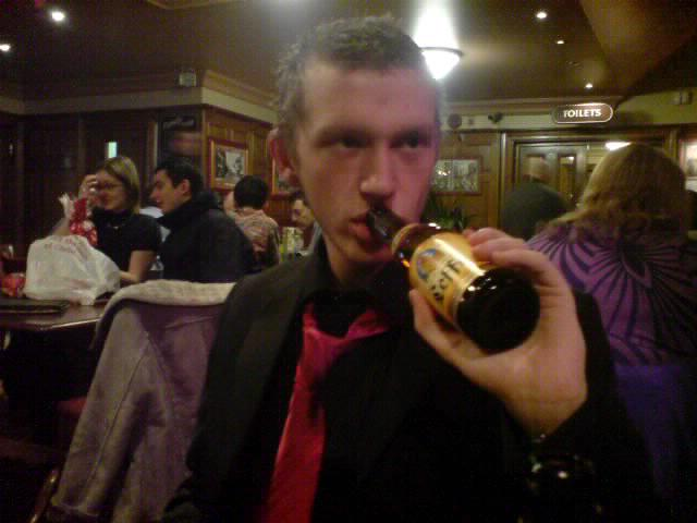 Dave with his Leffe
