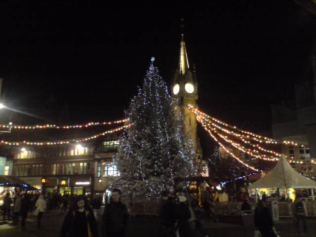 Leicester clocktower at christmas