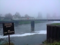 Cloudy saturday over Fiskerton weir