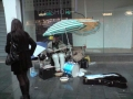 Singin in the rain, woof leicester buskers