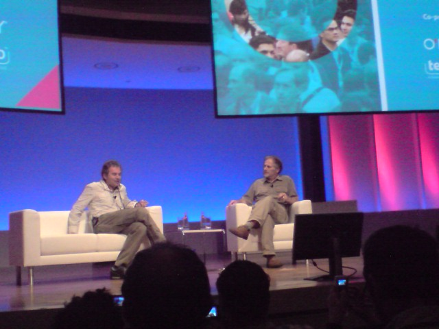 Tim talks with Martin Varsavsky in Berlin