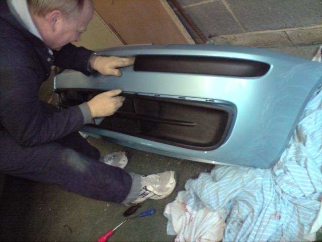 Fiat punto front bumper grill repair