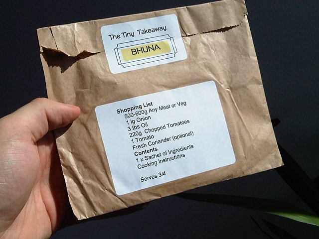 free indian bhuna curry spices sachet