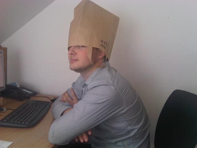 naughty baghead developer at work