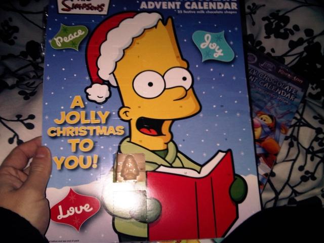 Bart Simpson advent calendar day one
