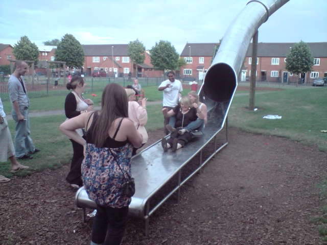 Fun times, bede park slide, leicester