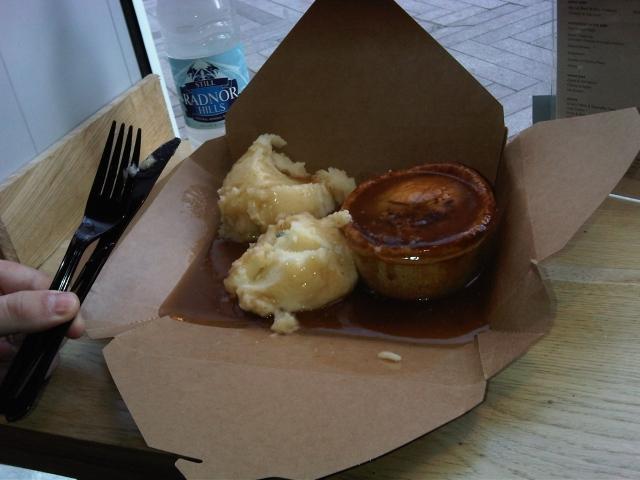Angus steak pie and mash, urban pie, leicester