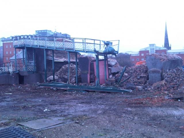 Duns lane railway bridge demolition