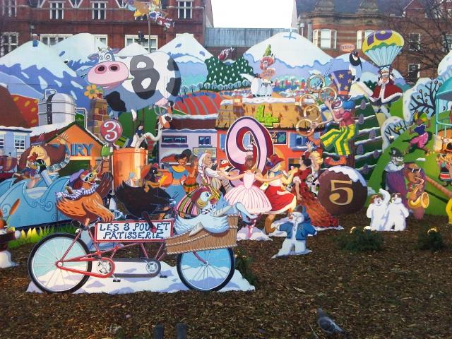 Leicester 12 days of Christmas display