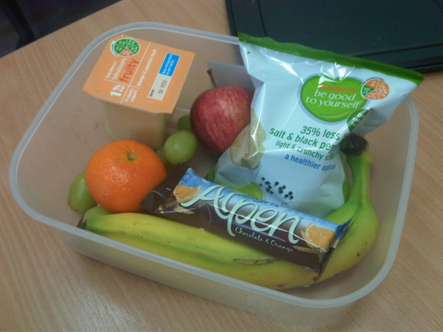 Super healthy packed lunch