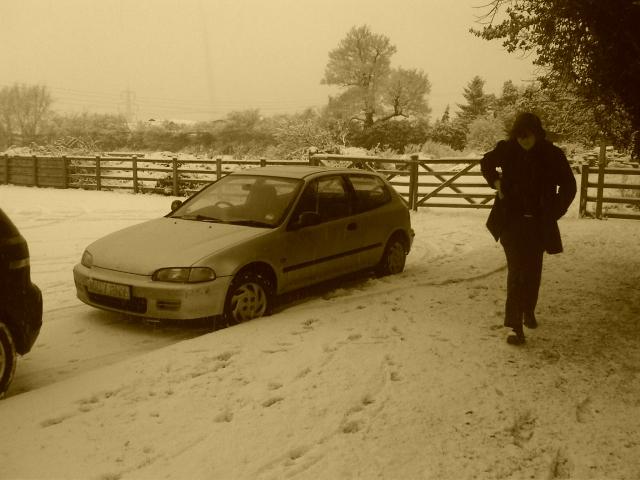 narborough wood farm snowy car park leicester