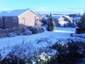 Snow has fallen in suburbia overnight