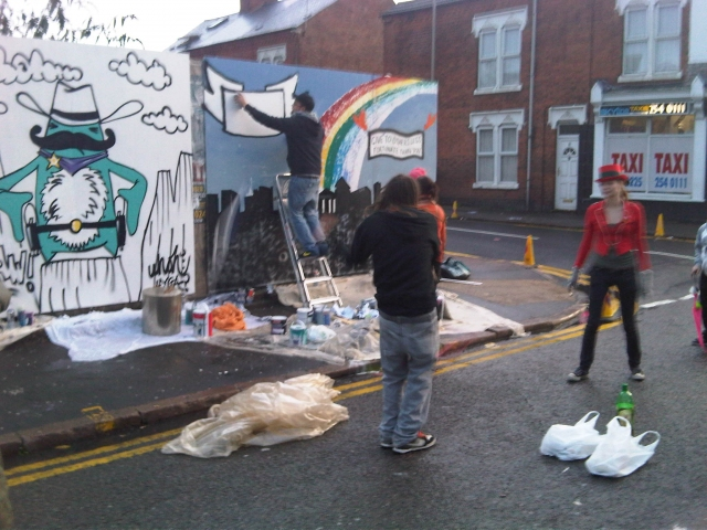 Oxjam Graffiti Art, Leicester