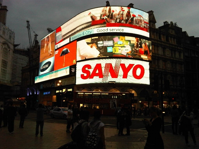Leicester Square London at night