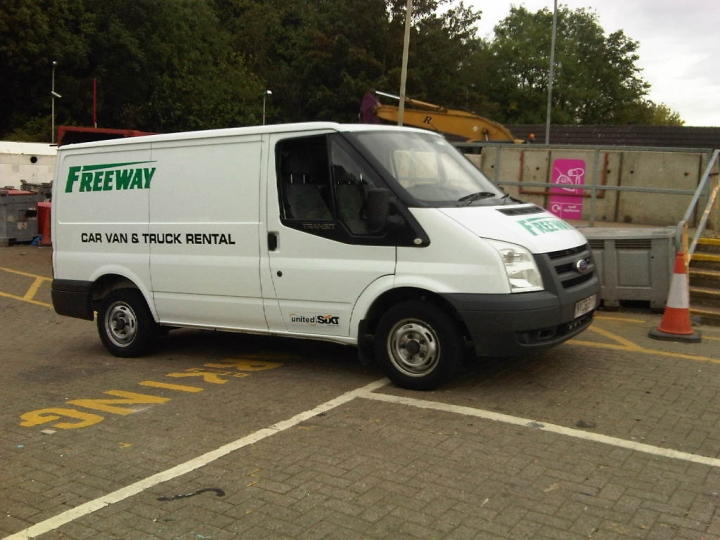 Our van hired from Freeway Hire, Oadby, Leicester