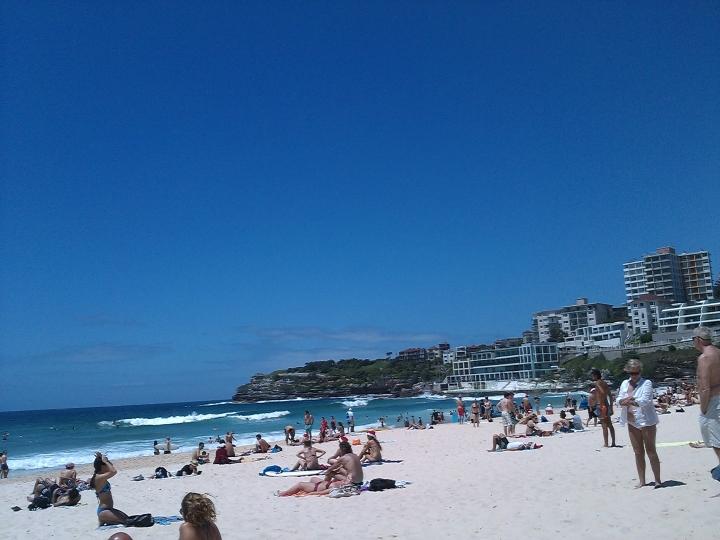 Christmas day at Bondi beach, Sydney