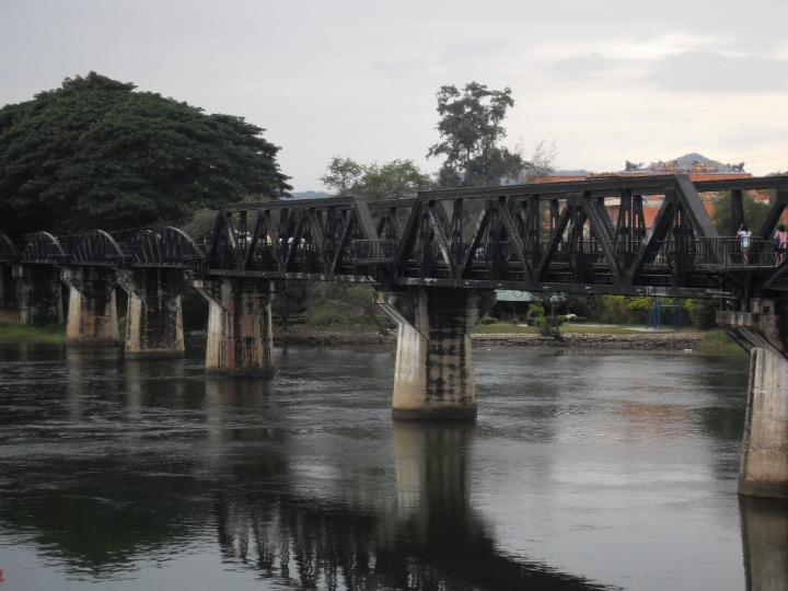 Bridge over the river Kwai, Kanchanaburi, Thailand - Travelling