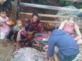 Saleswoman, Lahu village near Chiang Mai, Thailand