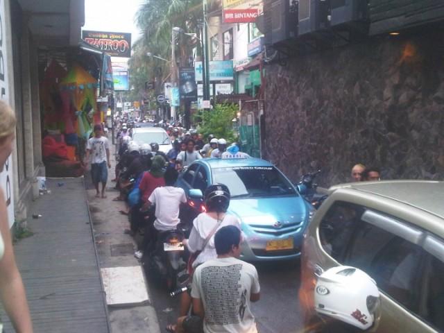 Traffic Jam on Poppies, Kuta, Bali