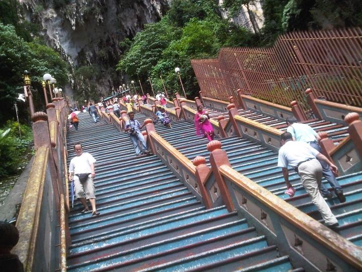 Steps to Batu Caves, Kuala Lumpur