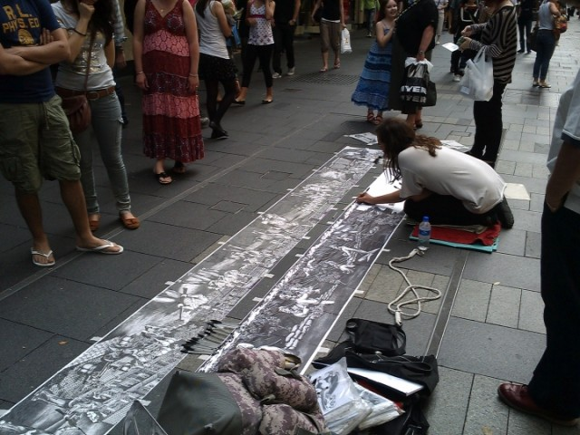 Ballpoint Biro street artist, Sydney