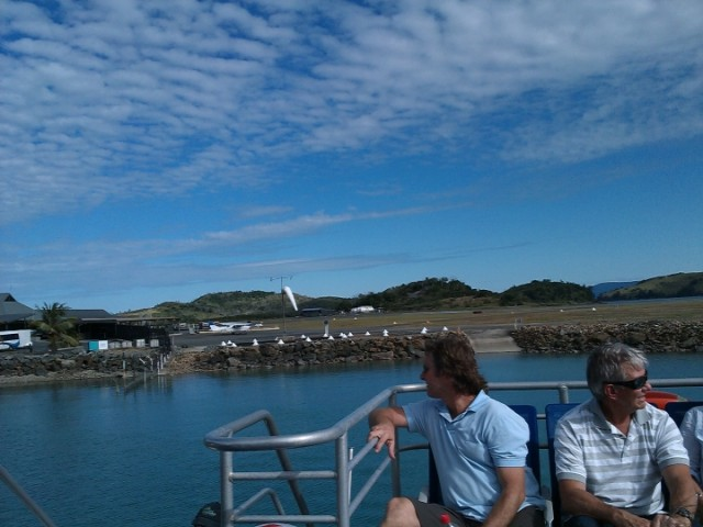 Leaving Hamilton Island Airport, Whitsundays