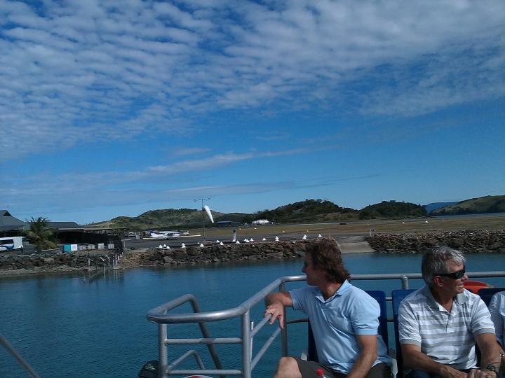 Leaving Hamilton Island Airport, Whitsundays