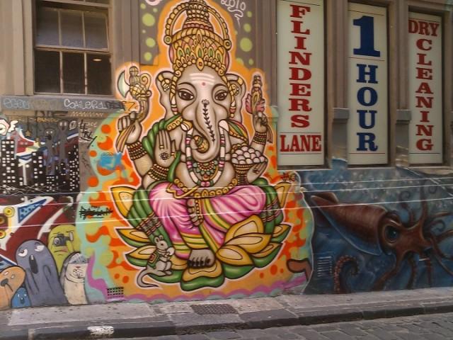 Graffiti Street Art, Hosier Lane, Melbourne