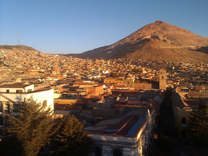 View from Cathedral of San Luis Potosí, Bolivia