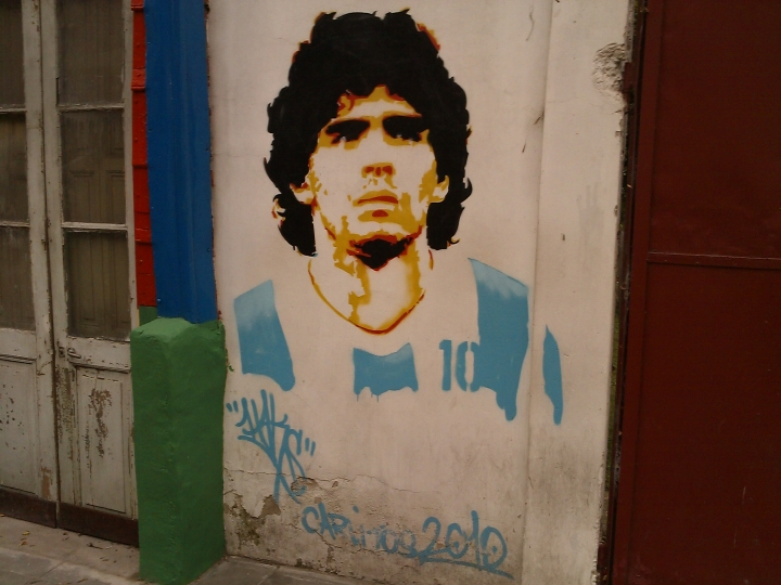 Diego Maradona Graffiti, La Boca, Buenos Aires