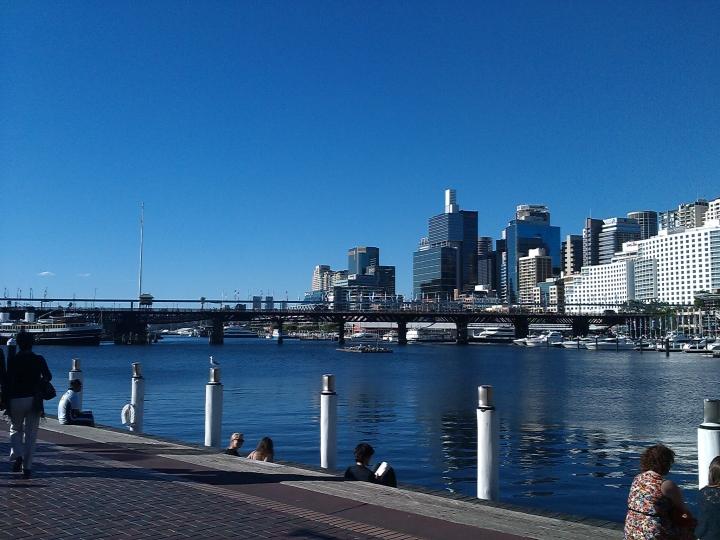 Blue sky at Darling Harbour, Sydney