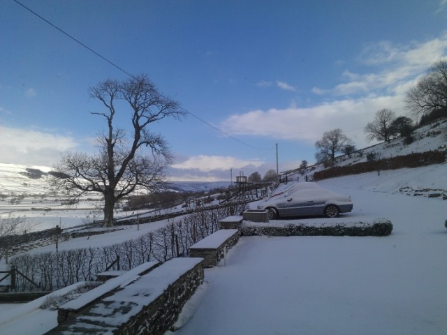 Snow at Raydale House, Semerwater, North Yorkshire