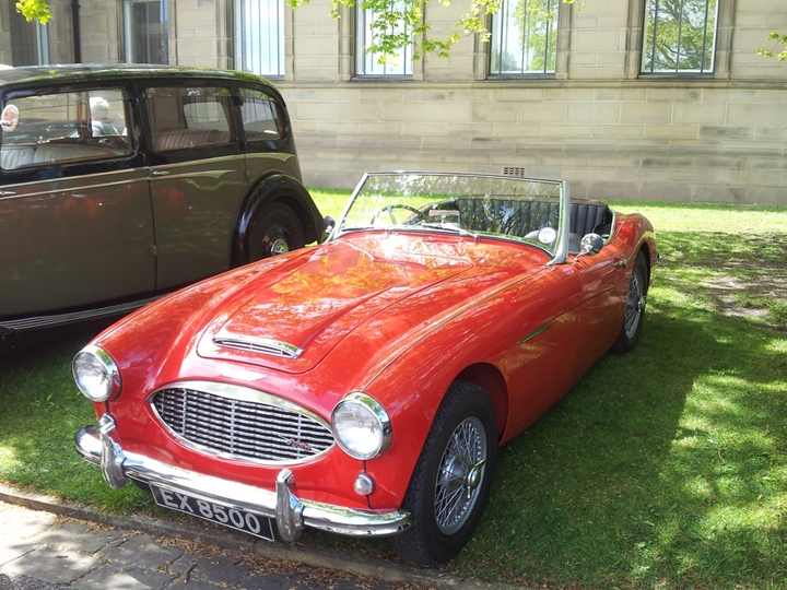 Red Austin Healey 3000, Western Park, Sheffield