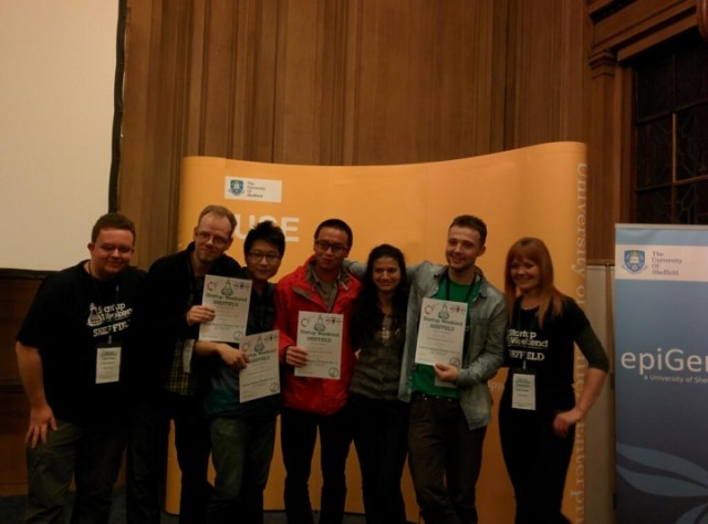 Startup Weekend Sheffield 2013 3rd place