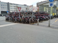 Bike parking at Münster Train Station, Germany