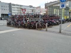 Bike parking at Münster Train Station, Germany