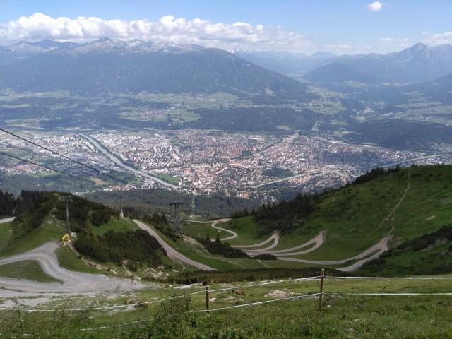 View from Seegrube Nordkette, Innsbruck, Austria